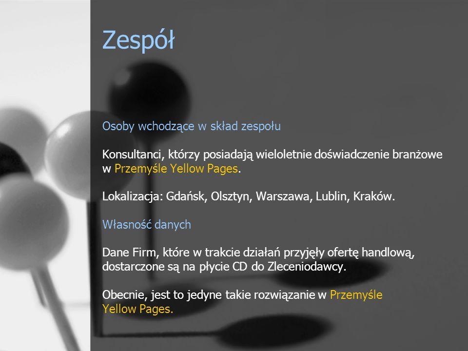 Zespół Osoby wchodzące w skład zespołu Konsultanci, którzy posiadają wieloletnie doświadczenie branżowe w Przemyśle Yellow Pages.