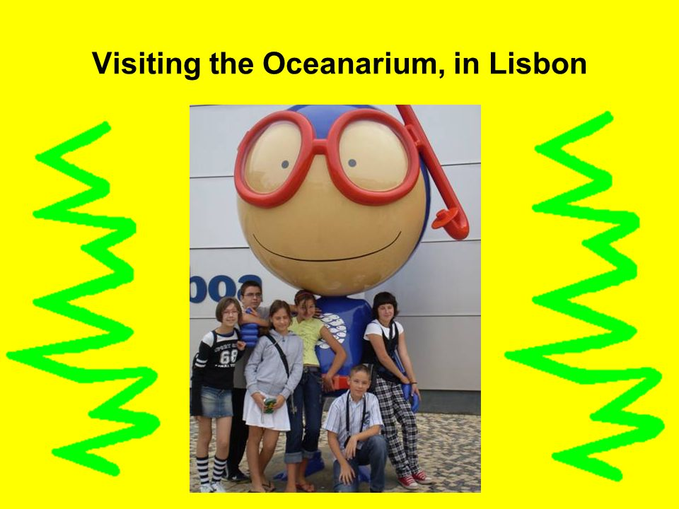 Visiting the Oceanarium, in Lisbon