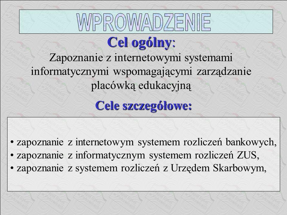 PLAN WYSTĄPIENIA Wprowadzenie. Informatyczny system przetwarzania i wymiany danych drogą elektroniczną. Internetowe systemy w wybranych obszarach zarz