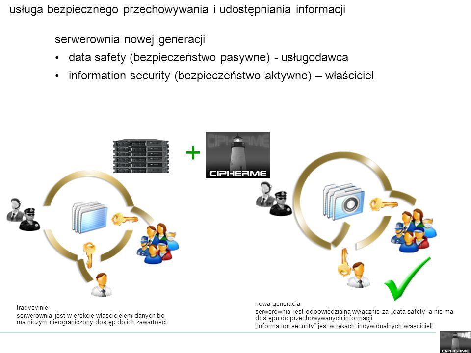 usługa bezpiecznego przechowywania i udostępniania informacji serwerownia nowej generacji data safety (bezpieczeństwo pasywne) - usługodawca informati