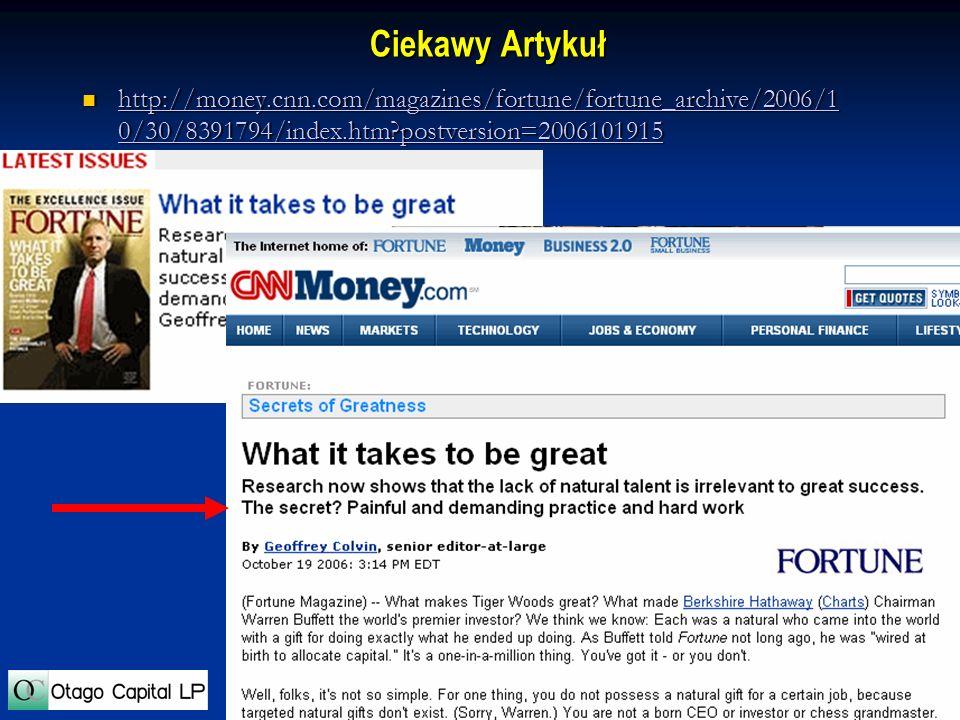 28 Ciekawy Artykuł http://money.cnn.com/magazines/fortune/fortune_archive/2006/1 0/30/8391794/index.htm?postversion=2006101915 http://money.cnn.com/ma