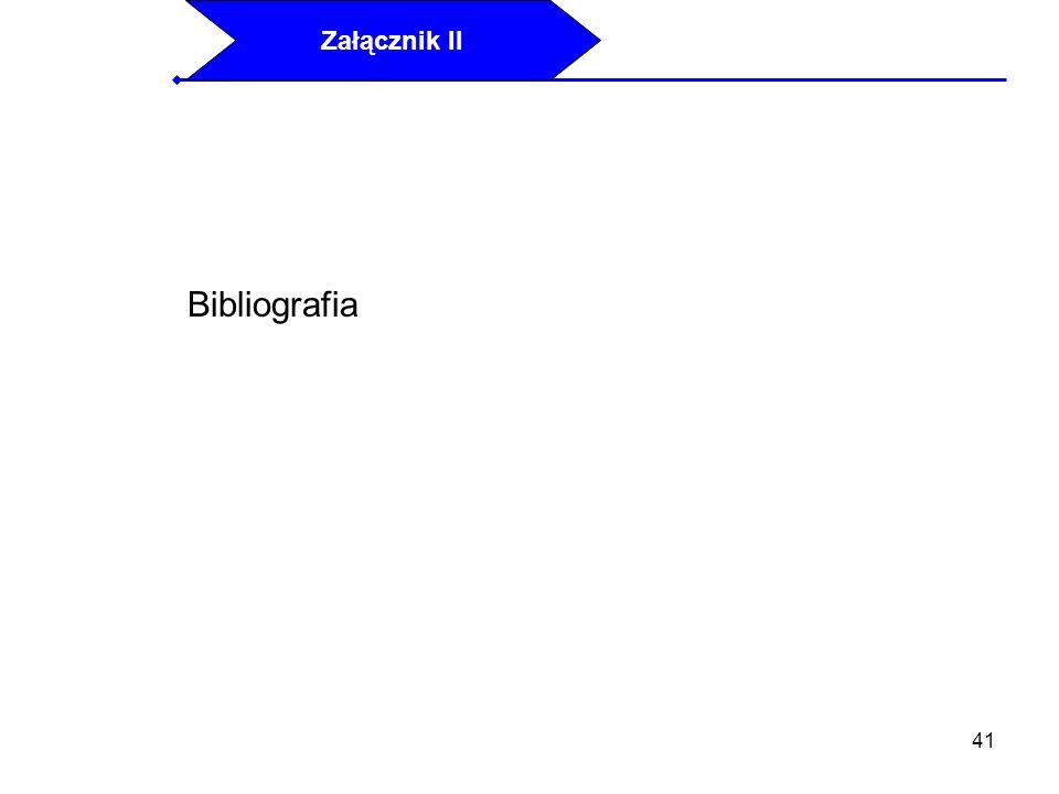 41 Bibliografia Załącznik II
