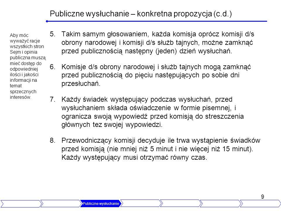 20 Niemcy W Niemczech (na poziomie całego kraju) prace w komisjach - wyglądają dokładnie tak jak przewidział to polski ustawodawca.