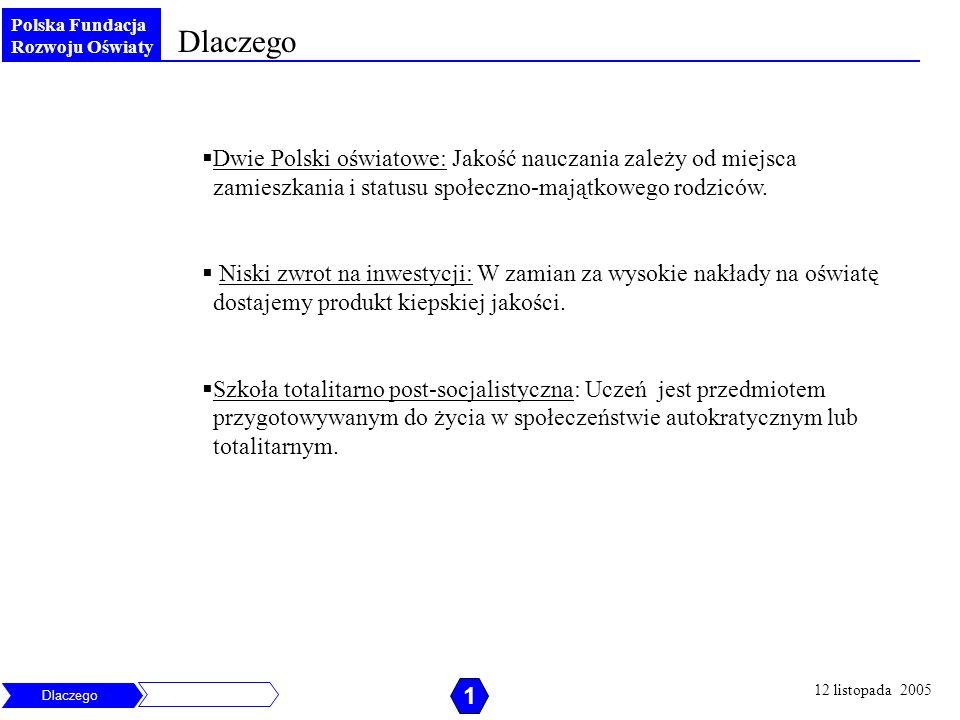 Polska Fundacja Rozwoju Oświaty Dlaczego Dwie Polski oświatowe: Jakość nauczania zależy od miejsca zamieszkania i statusu społeczno-majątkowego rodzic