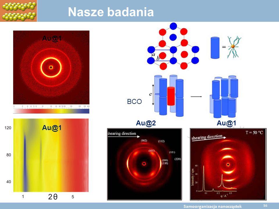 Nasze badania Au@1 BCO Au@1 Au@2 BaltChem Conference April 5, 2009 Metal nanoparticles self assembly BaltChem Conference April 5, 2009 Samoorganizacja