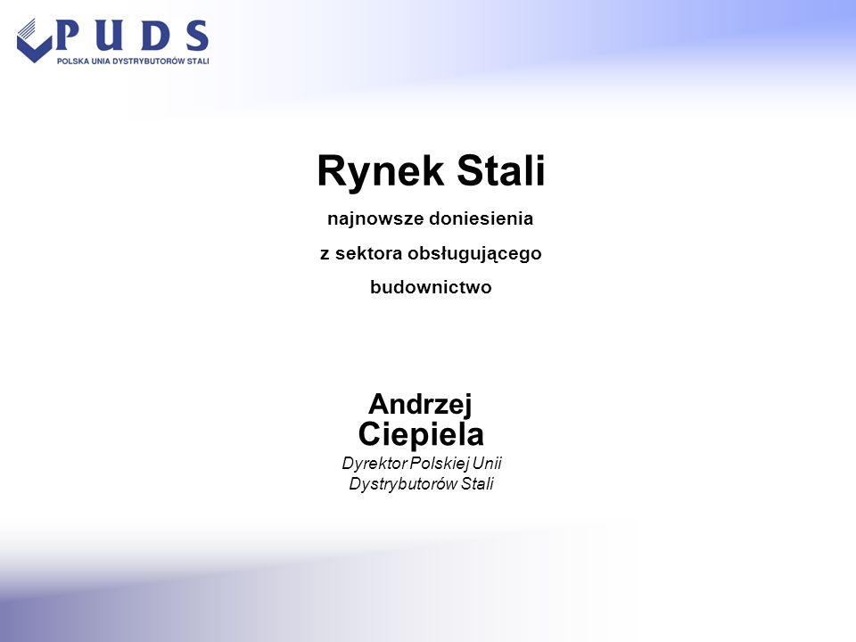 - rozbudowana sieć sprzedaży - szeroki asortyment dzięki dywersyfikacji dostawców - wartość dodana – kompletowanie zamówień, usługi cięcia blach, prefabrykacji prętów żebrowanych - większa elastyczność (obsługa małych i dużych klientów) Dystrybutorzy zrzeszeni w Polskiej Unii Dystrybutorów Stali = niezbywalne ogniwo w łańcuchu dostaw RYNEK STALI W POLSCE www.puds.pl
