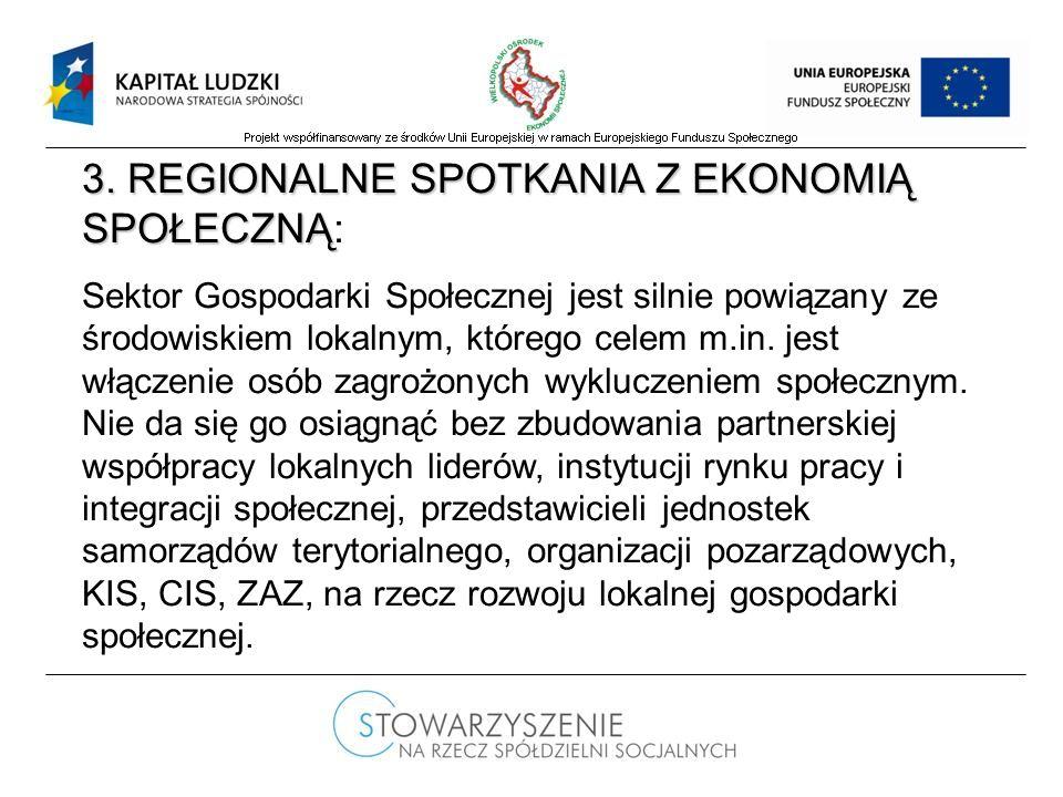 3. REGIONALNE SPOTKANIA Z EKONOMIĄ SPOŁECZNĄ 3.
