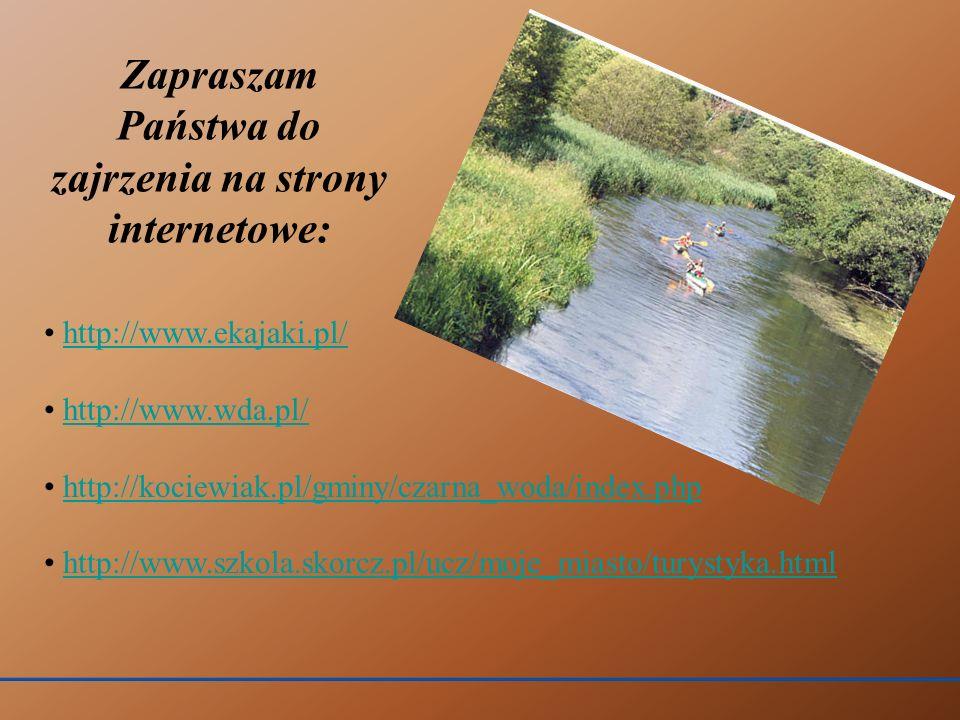 http://www.ekajaki.pl/ http://www.wda.pl/ http://kociewiak.pl/gminy/czarna_woda/index.php http://www.szkola.skorcz.pl/ucz/moje_miasto/turystyka.html Z
