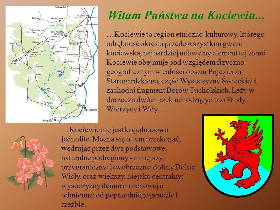 Witam Państwa na Kociewiu... …Kociewie to region etniczno-kulturowy, którego odrębność określa przede wszystkim gwara kociewska, najbardziej uchwytny