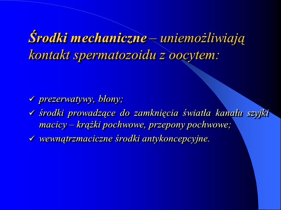 Wkładka (spirala) wewnątrzmaciczna zapobiega ciąży uniemożliwiając implantację zarodka.