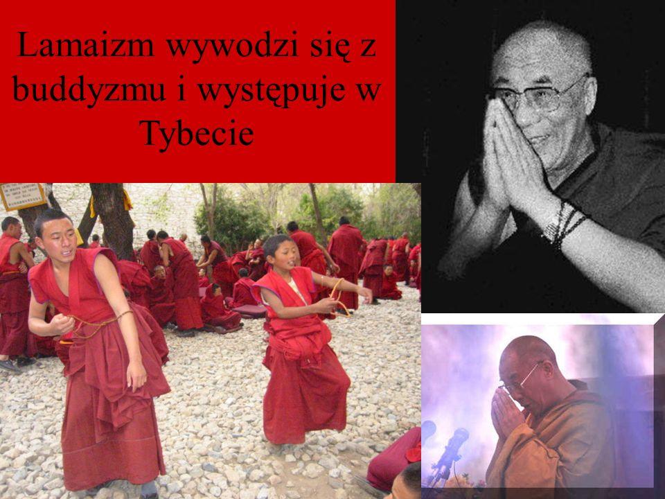 Lamaizm wywodzi się z buddyzmu i występuje w Tybecie