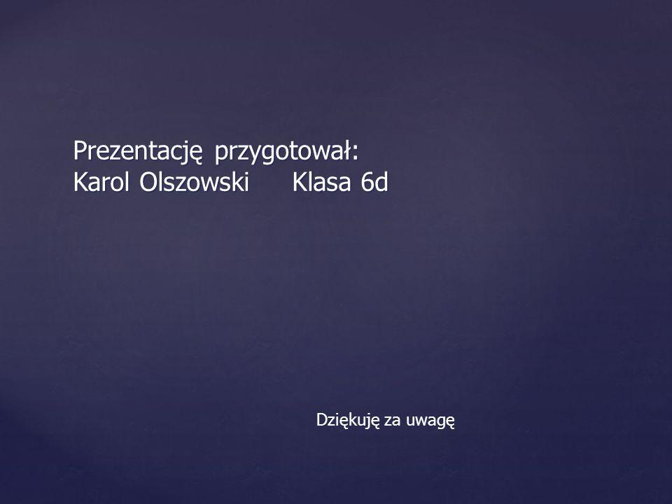 Prezentację przygotował: Karol Olszowski Klasa 6d Dziękuję za uwagę