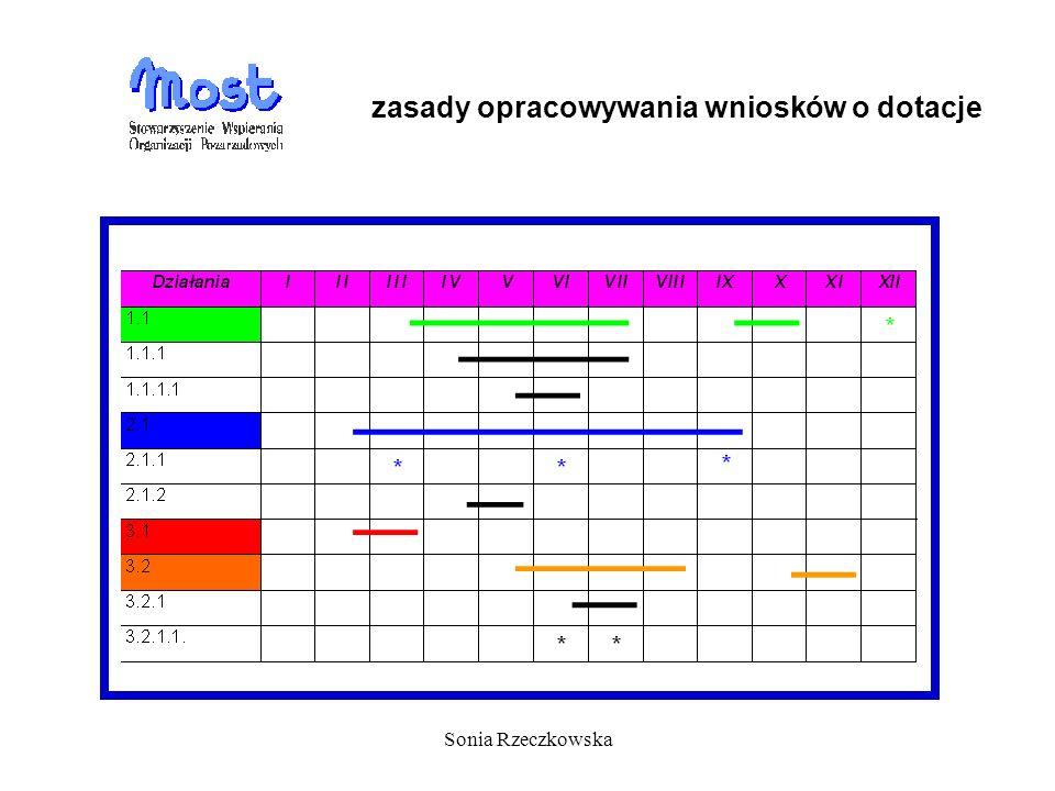 Sonia Rzeczkowska zasady opracowywania wniosków o dotacje