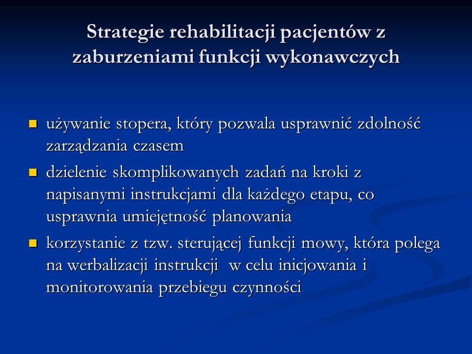 Strategie rehabilitacji pacjentów z zaburzeniami funkcji wykonawczych używanie stopera, który pozwala usprawnić zdolność zarządzania czasem używanie s