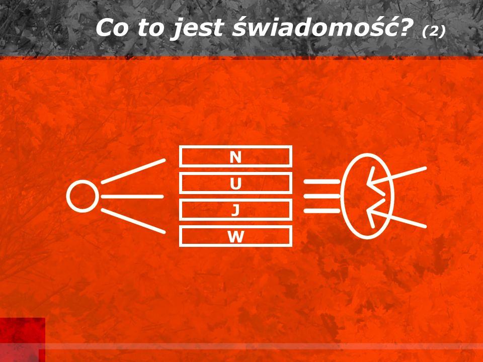 Co to jest świadomość? (2) N U J W