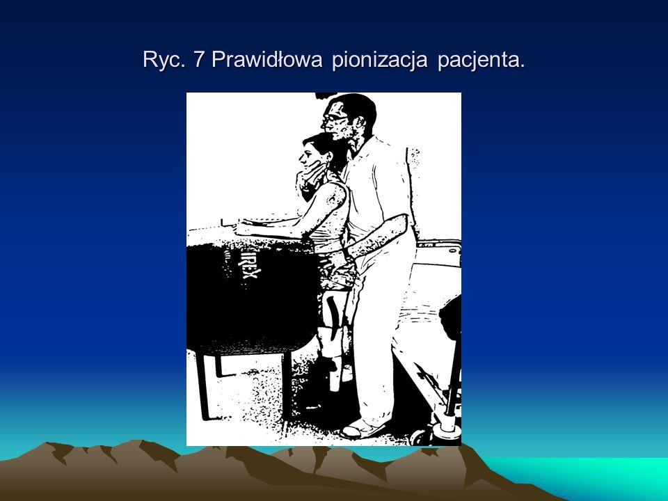 Ryc. 7 Prawidłowa pionizacja pacjenta.