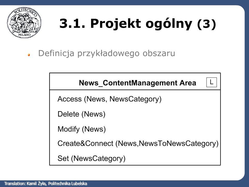 3.1. Projekt ogólny (3) Definicja przykładowego obszaru Translation: Kamil Żyła, Politechnika Lubelska