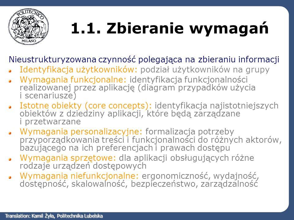 Przykład podschematu szkieletowego Translation: Kamil Żyła, Politechnika Lubelska