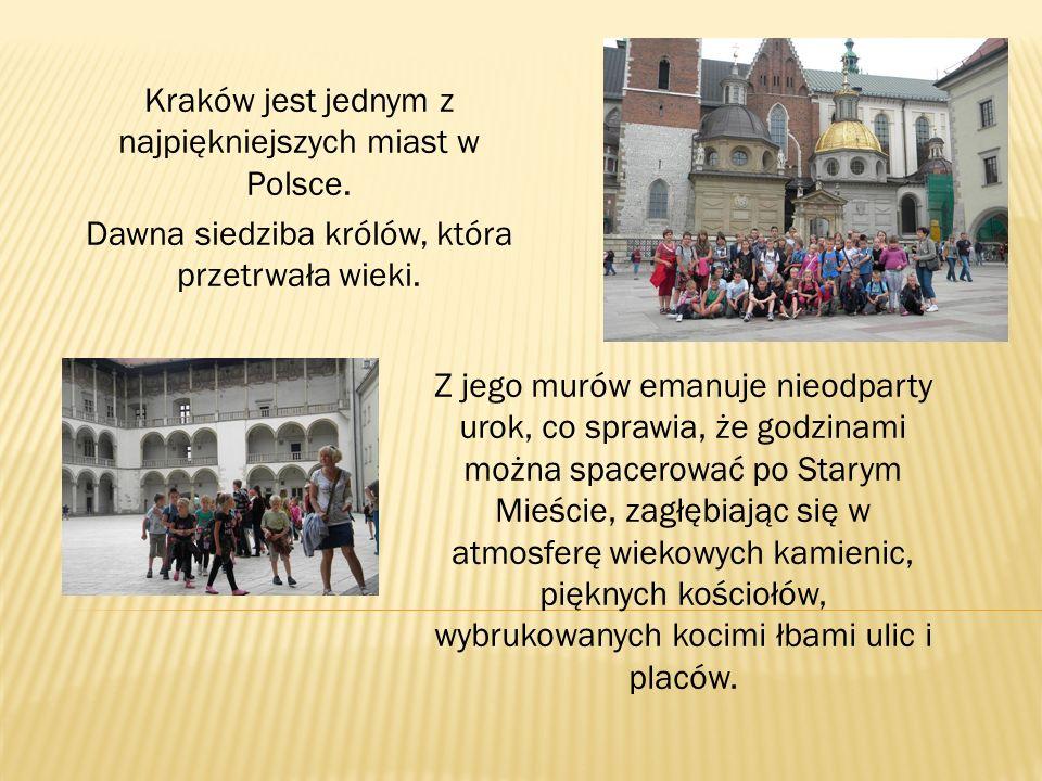 Kraków jest jednym z najpiękniejszych miast w Polsce. Dawna siedziba królów, która przetrwała wieki. Z jego murów emanuje nieodparty urok, co sprawia,