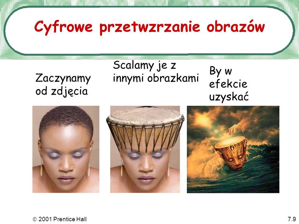 2001 Prentice Hall7.9 Cyfrowe przetwzrzanie obrazów Zaczynamy od zdjęcia Scalamy je z innymi obrazkami By w efekcie uzyskać