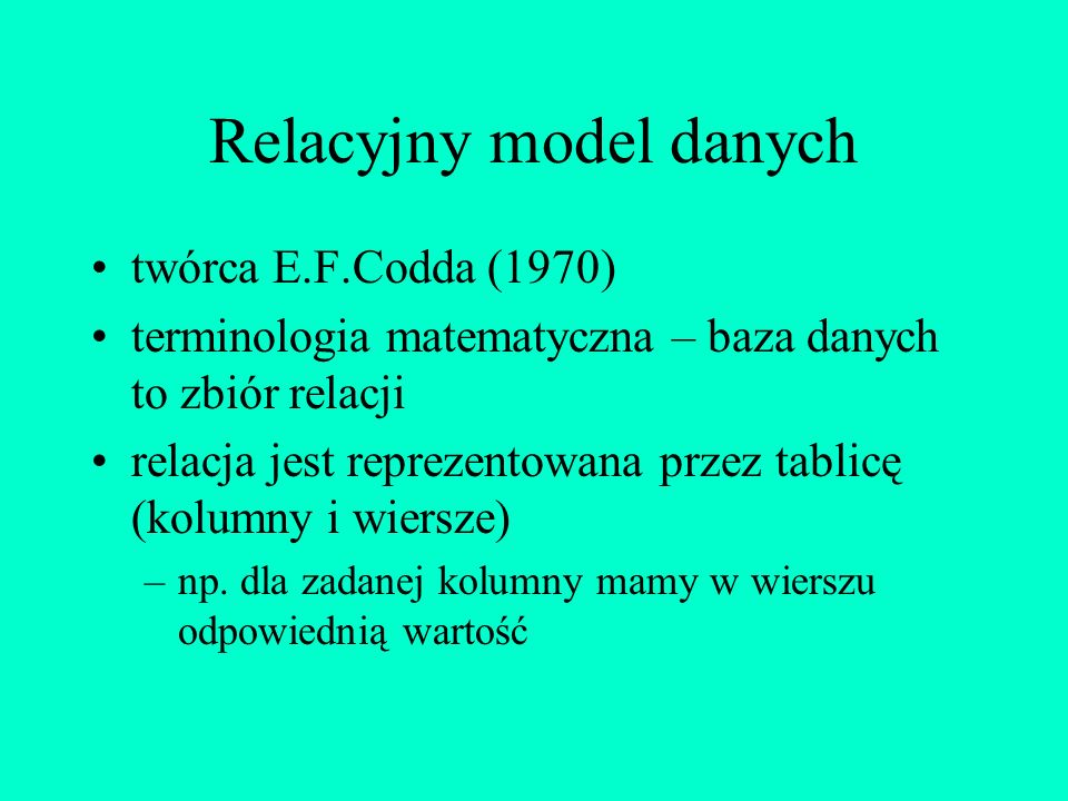 Modelowanie danych specyfikacja wymagań użytkowników określenie modelu systemowego konfiguracja sprzętu i oprogramowania projektowanie bazy ~ 80% czas