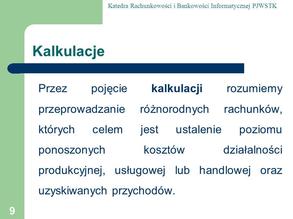 Katedra Rachunkowości i Bankowości Informatycznej PJWSTK 160 Wartości niematerialne i prawne (def.