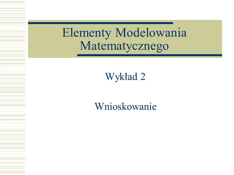 Elementy Modelowania Matematycznego Wykład 2 Wnioskowanie