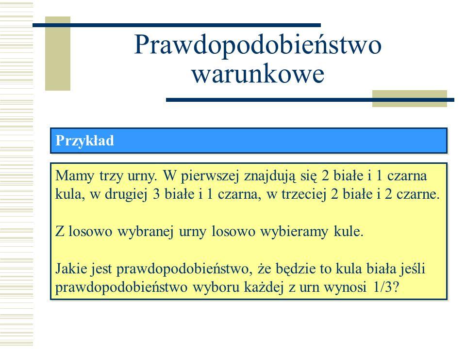 Naiwny klasyfikator Bayesowski Przykład: klasyfikacja dokumentu Zakładamy, że prawdopodobieństwo wystąpienia słowa w dokumencie jest niezależne od długości dokumentu lub też, że wszystkie dokumenty maja tę samą długość.