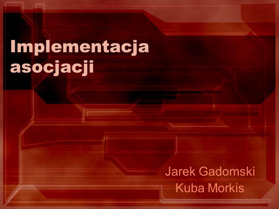 Implementacja asocjacji Jarek Gadomski Kuba Morkis
