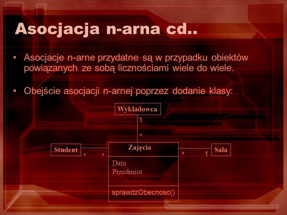 Asocjacja n-arna cd..