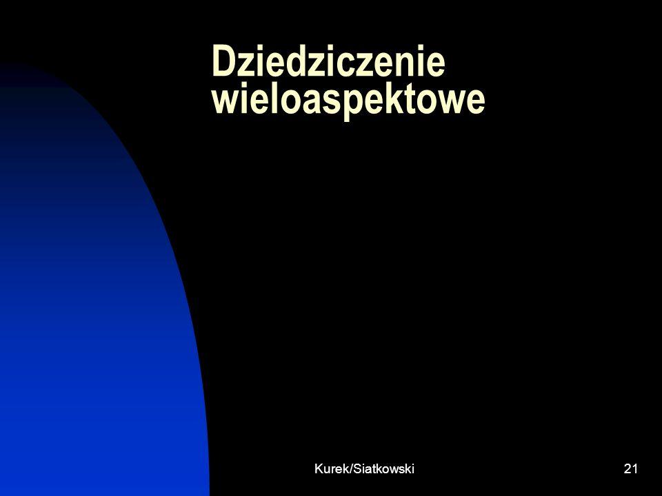 Kurek/Siatkowski21 Dziedziczenie wieloaspektowe