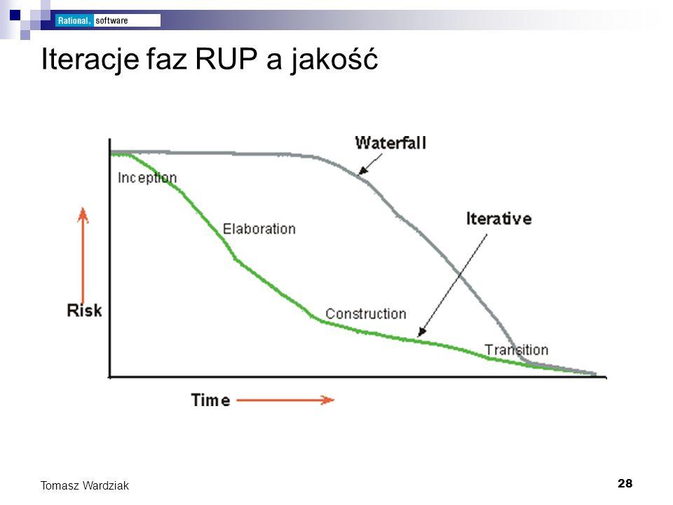 28 Tomasz Wardziak Iteracje faz RUP a jakość