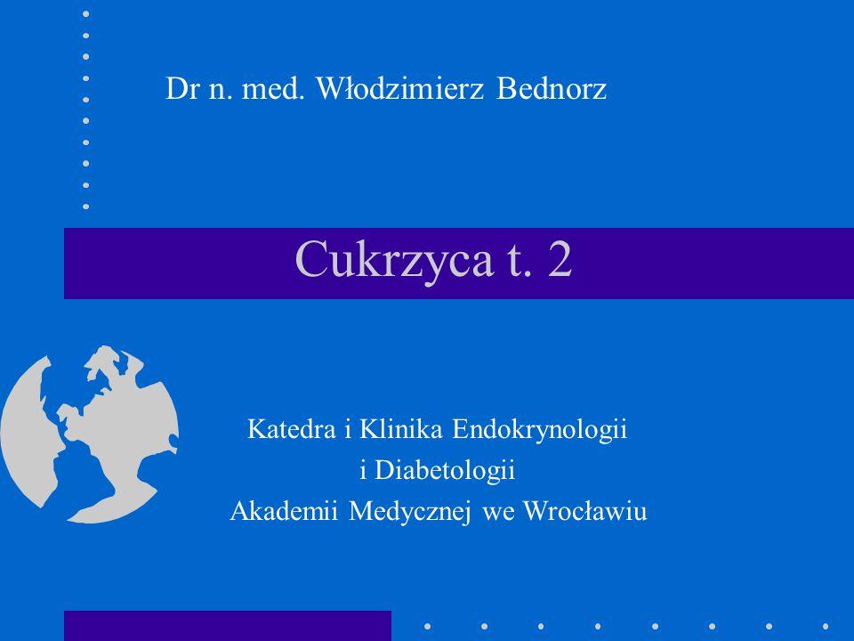 Cukrzyca t. 2 Katedra i Klinika Endokrynologii i Diabetologii Akademii Medycznej we Wrocławiu Dr n. med. Włodzimierz Bednorz