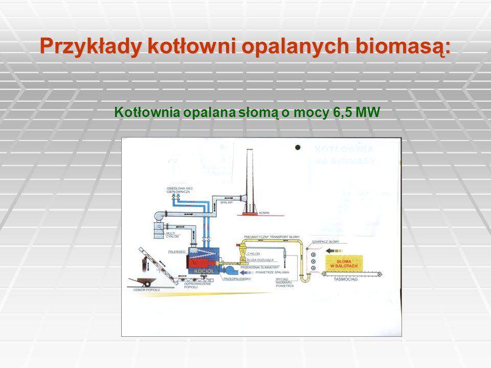 Przykłady kotłowni opalanych biomasą: Kotłownia opalana słomą o mocy 6,5 MW