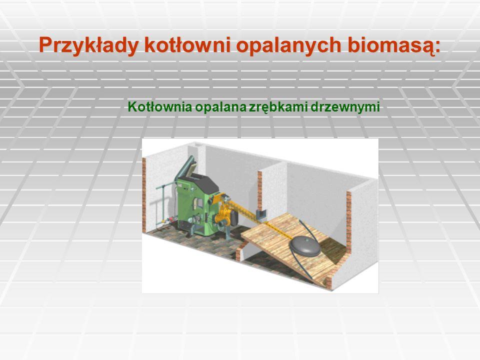 Przykłady kotłowni opalanych biomasą: Kotłownia opalana zrębkami drzewnymi