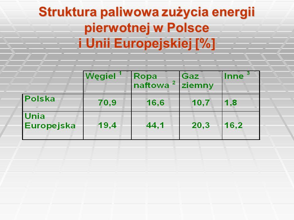 Względne ilości emisji gazów w wybranych krajach Kraj SO 2 NO x CO 2 kg/mieszkańcakg/tys.