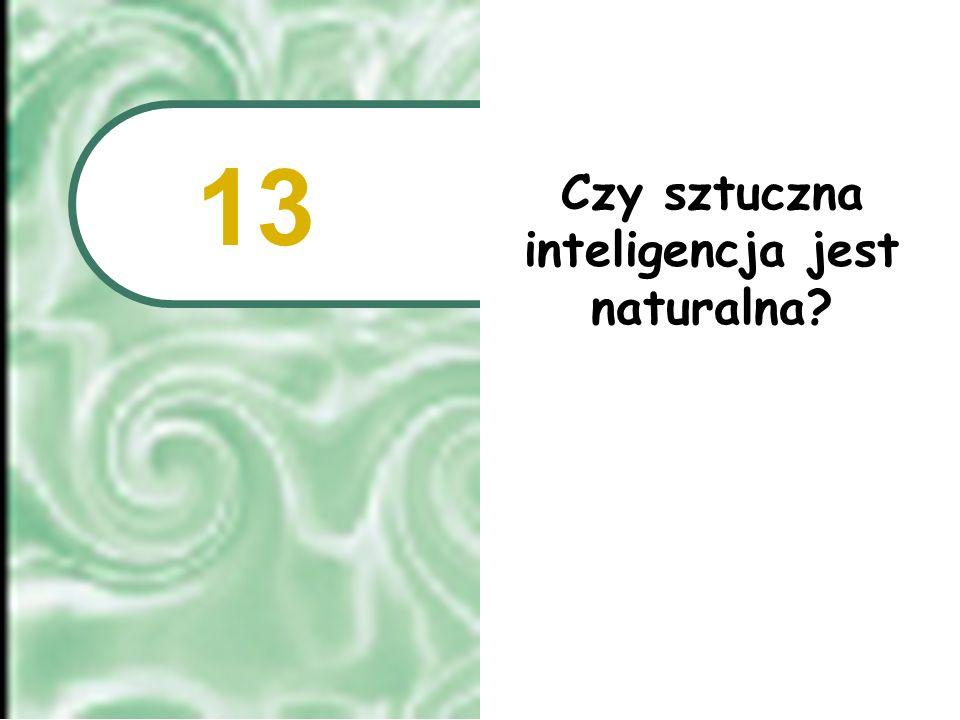 Czy sztuczna inteligencja jest naturalna? 13