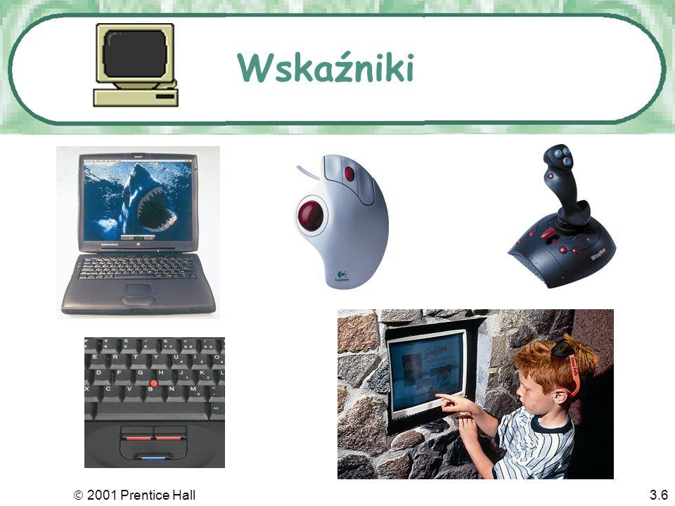 2001 Prentice Hall3.5 Klawiatura zawiera m.in. …i kursory używane do nawigacji po ekranie. Konkurenci myszki....Klucze specjalne, kojarzone z rozmaity