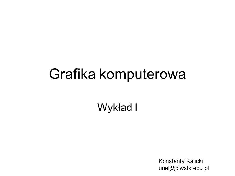 Grafika komputerowa Wykład I Konstanty Kalicki uriel@pjwstk.edu.pl