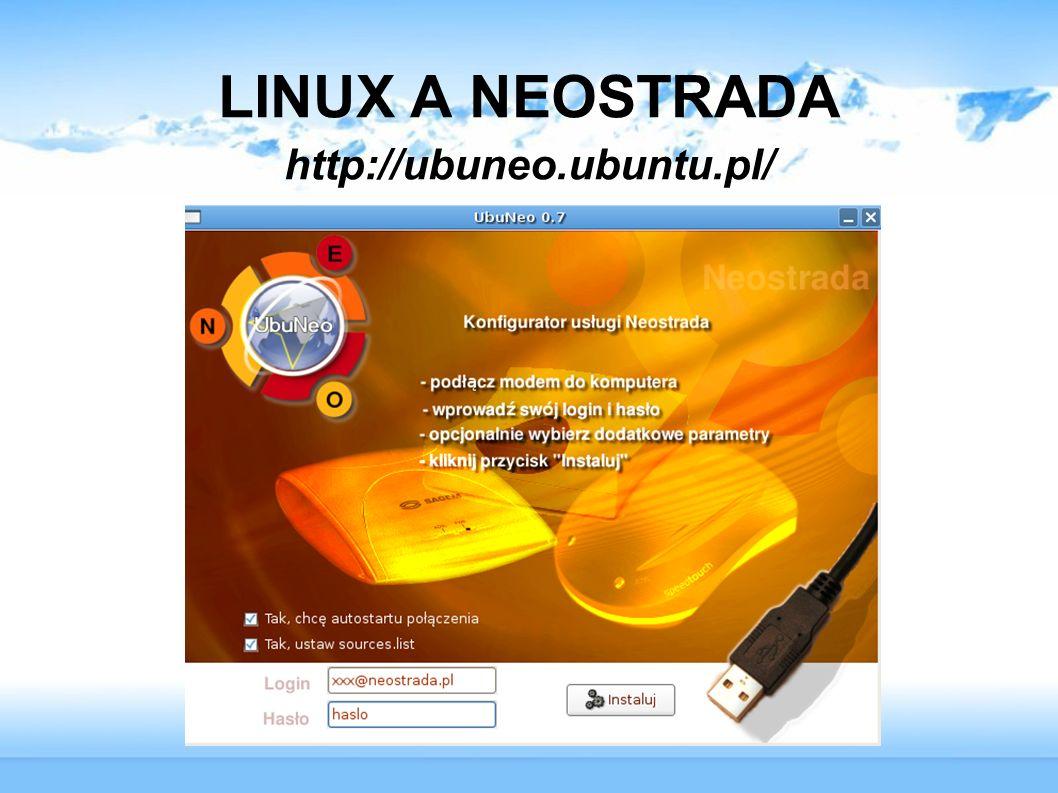 LINUX A NEOSTRADA http://ubuneo.ubuntu.pl/