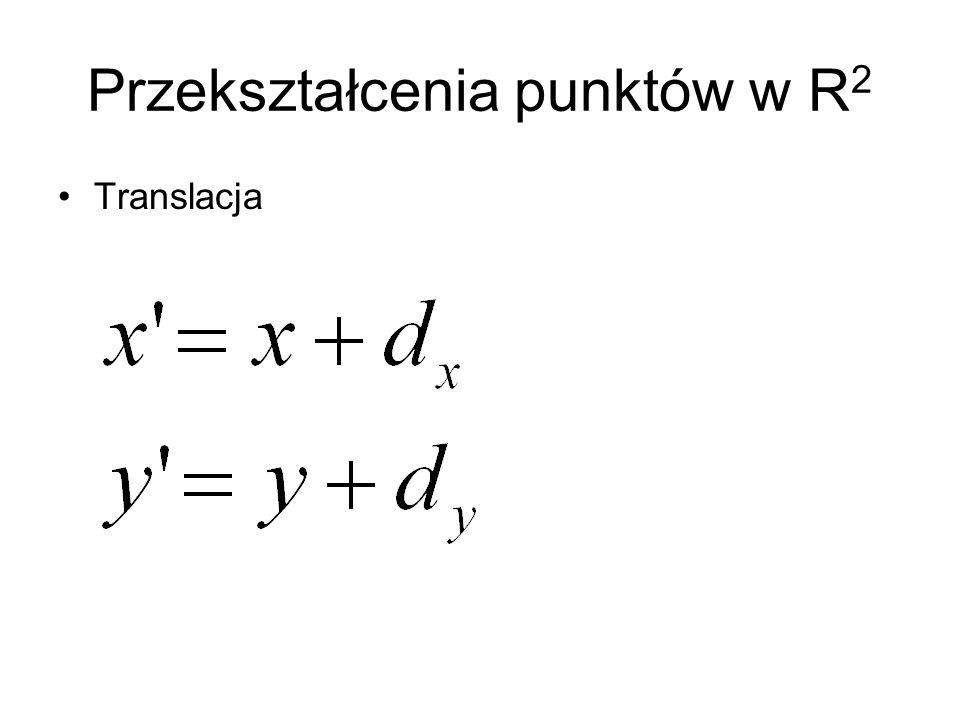 Przekształcenia punktów w R 2 Translacja