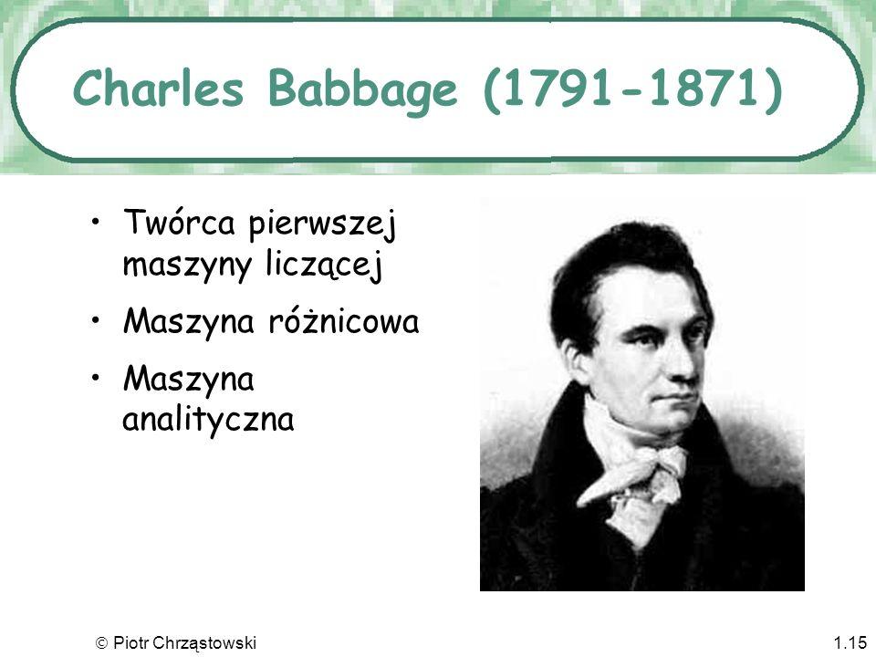 Piotr Chrząstowski1.14 Abraham Stern (1749-1842) Jako pierwszy skonstruował kalkulator wyciągający pierwiastki