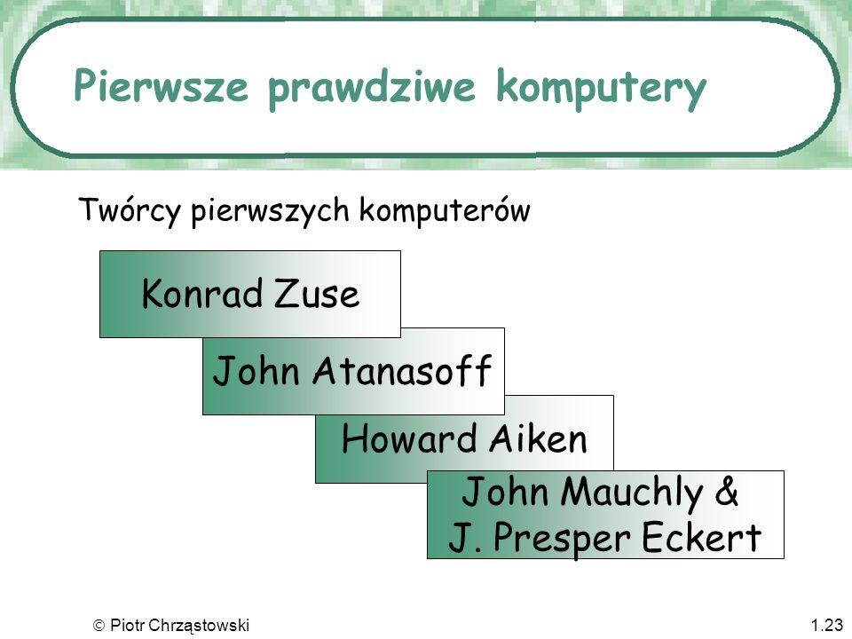 Piotr Chrząstowski1.22 Problem odpowiedniości Posta Post correspondence problem x1=abb y1=a x2=b y2=abb x3=a y3=bb Czy istnieje taki ciag indeksów i1,