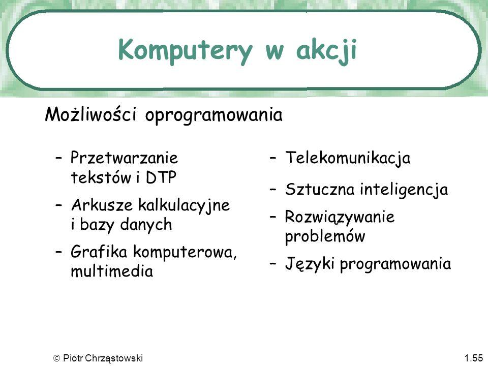 Piotr Chrząstowski1.54 Technologia przejrzysta Podstawowe fakty o sprzęcie i oprogramowaniu