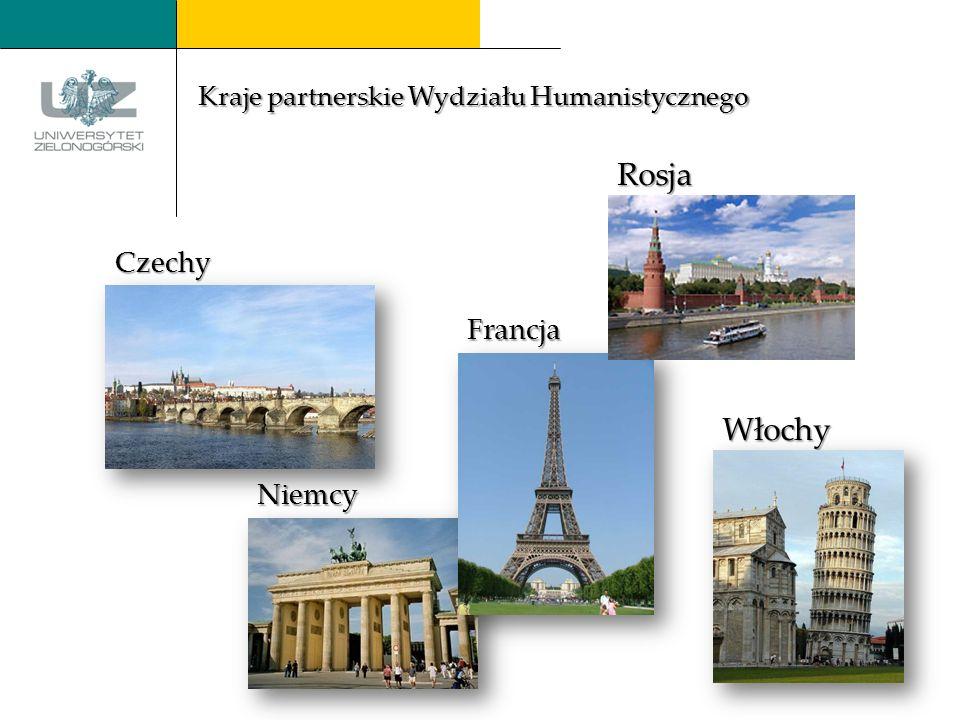 Włochy Czechy Francja Niemcy Rosja Kraje partnerskie Wydziału Humanistycznego