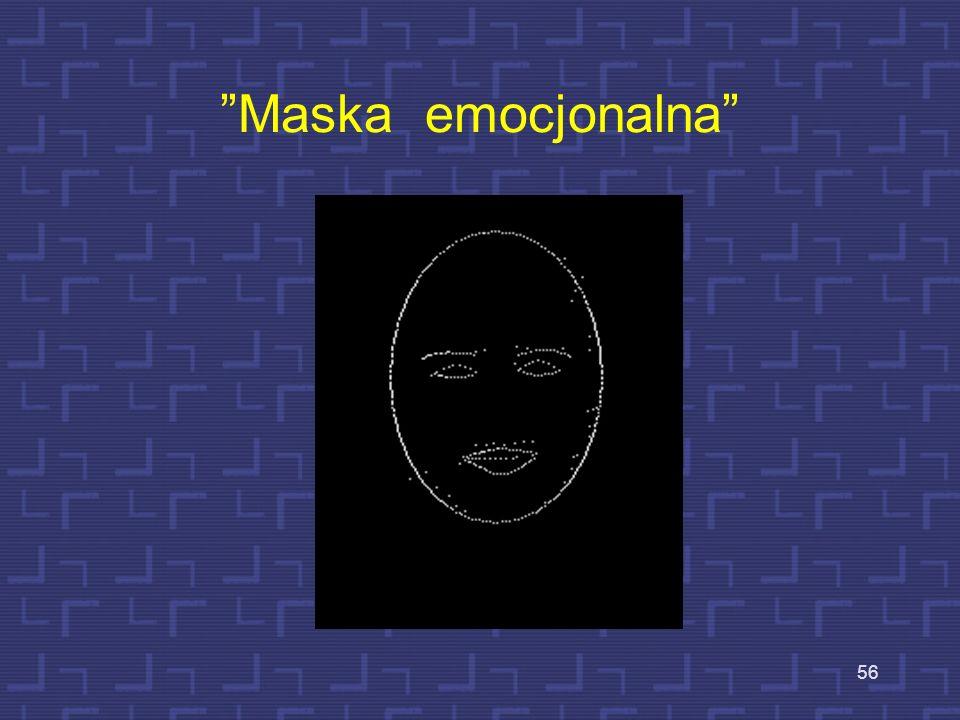 Ekstrakcja cech wyrazu twarzy - kontury 55