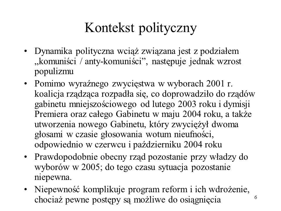 47 Zdolność kredytowa Polski, a ekspozycja BŚ Rating Polski na poziomie BBB+ Chociaż dynamika długu polskiego pogorszyła się z 41% w 2001 do 51.6% PKB w 2003, silny wzrost gospodarczy w połączeniu z przyjęciem tzw.