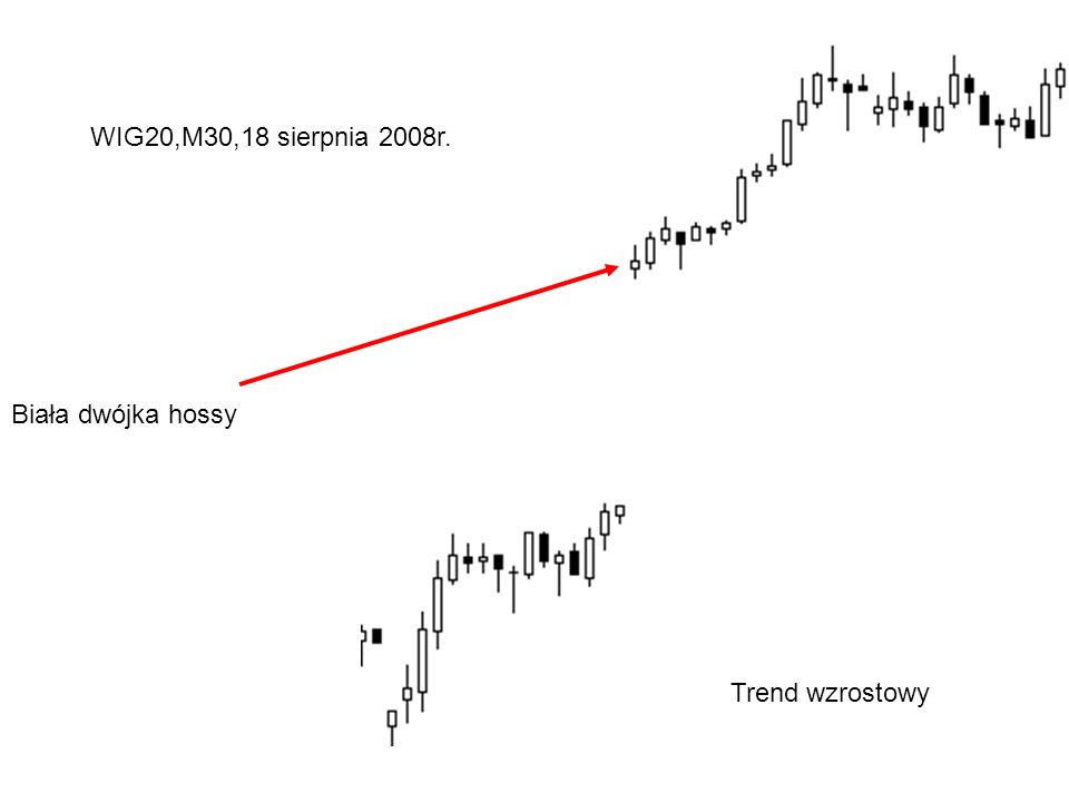 Biała dwójka hossy WIG20,M30,18 sierpnia 2008r. Trend wzrostowy