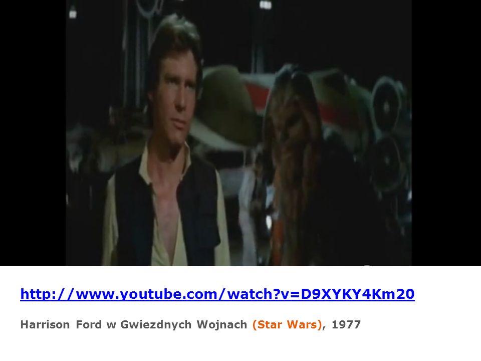 http://www.youtube.com/watch?v=D9XYKY4Km20 Harrison Ford w Gwiezdnych Wojnach (Star Wars), 1977