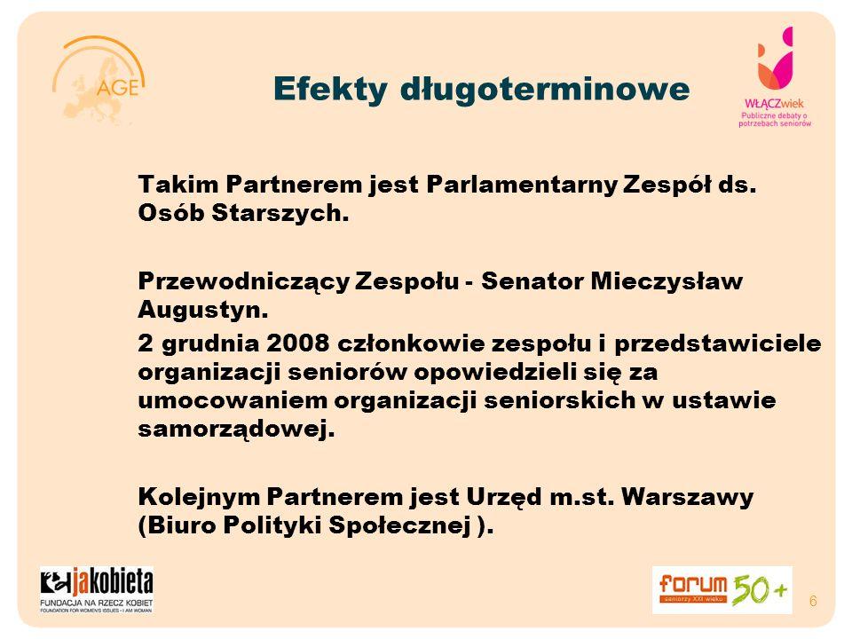 Efekty długoterminowe Takim Partnerem jest Parlamentarny Zespół ds.